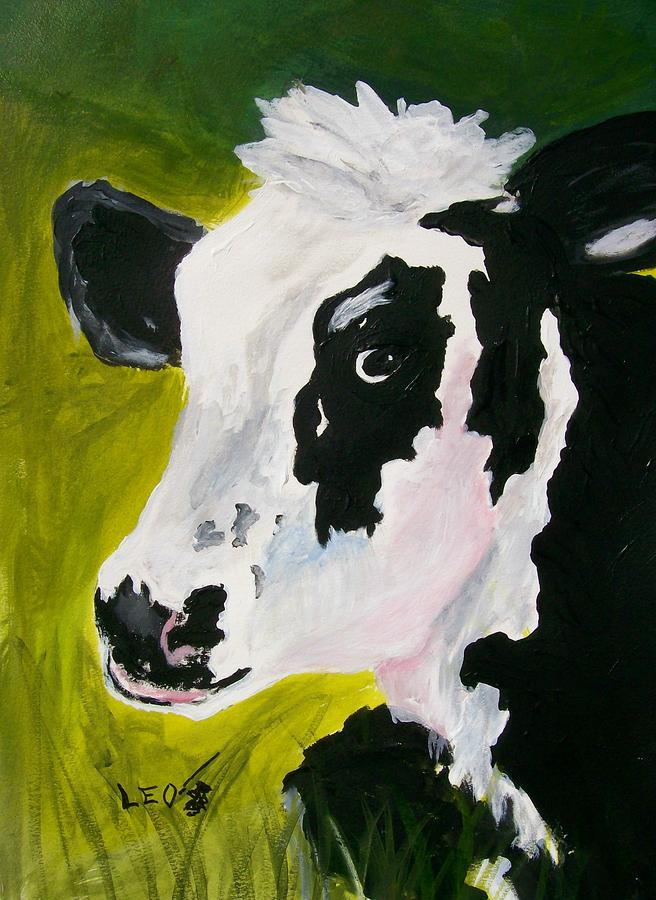 Bessy The Cow Painting  - Bessy The Cow Fine Art Print