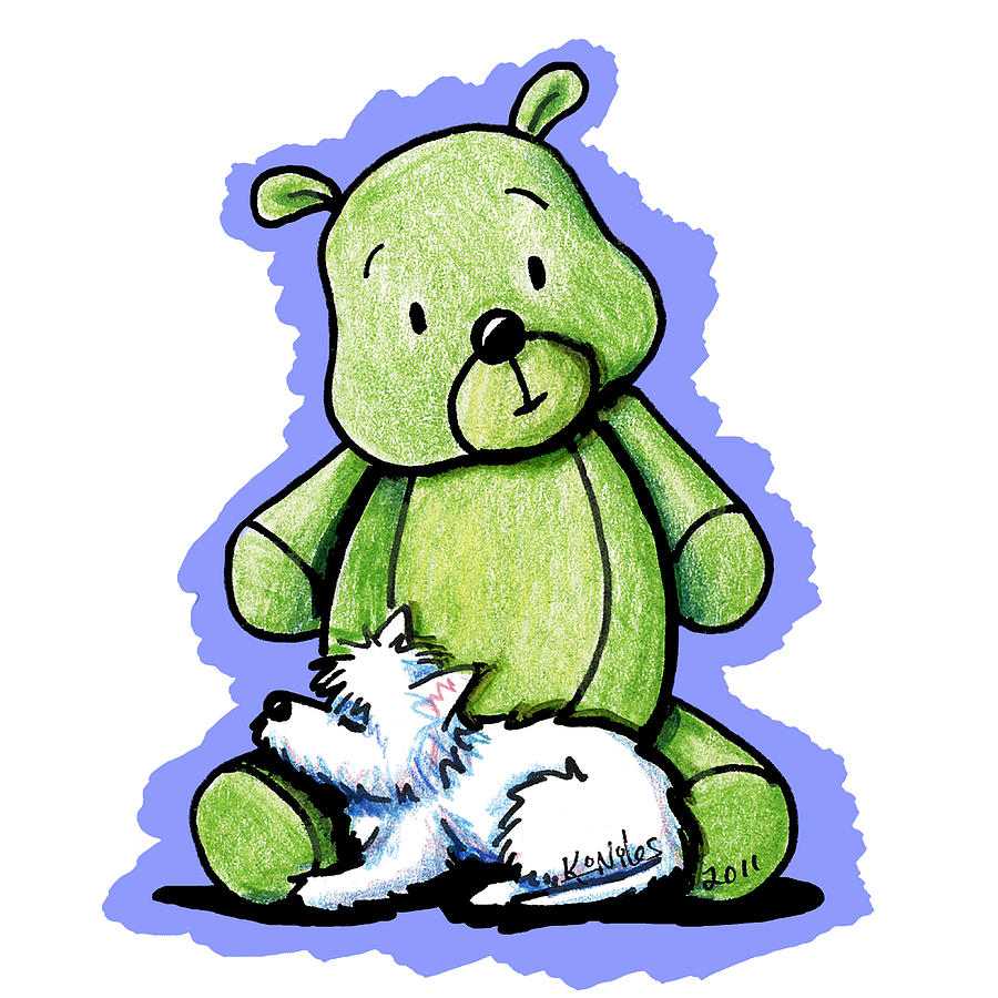Best Buddies Come In All Sizes Drawing  - Best Buddies Come In All Sizes Fine Art Print