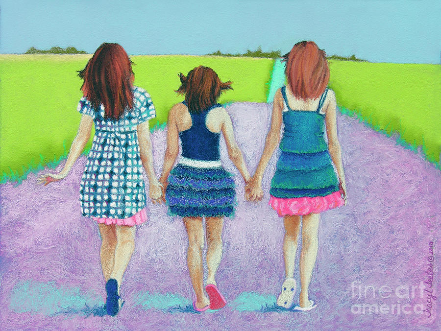 Best Friends Pastel  - Best Friends Fine Art Print