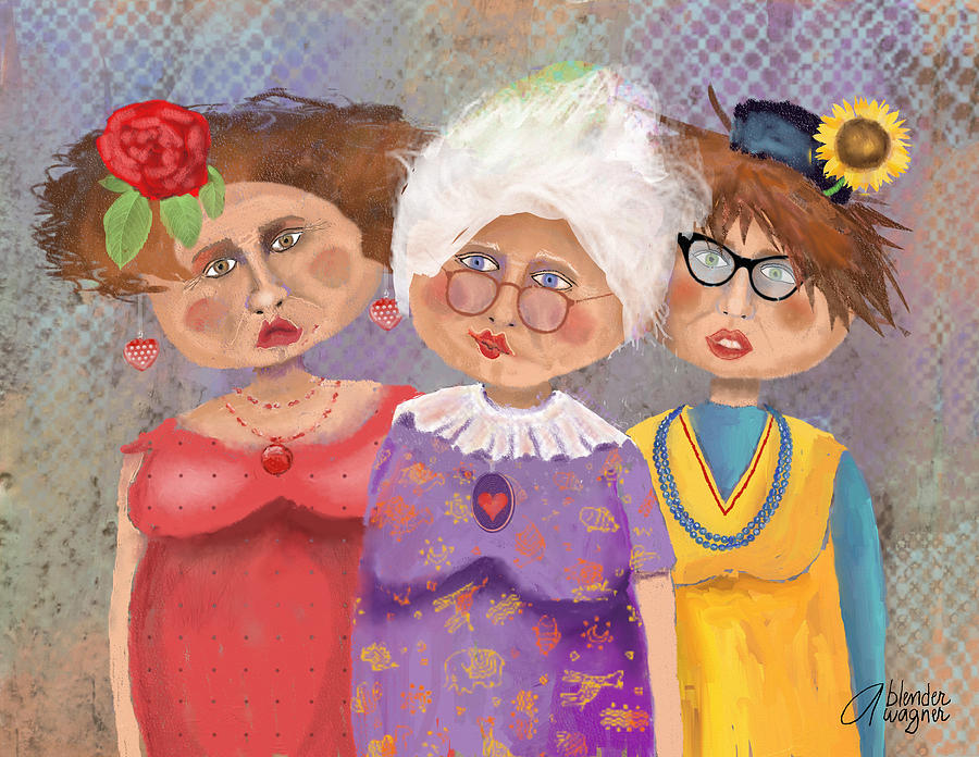 Bestfriendsforever by arline wagner for 3 by 3 prints