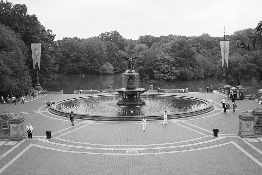 Bethesda Fountain Central Park New York Photograph  - Bethesda Fountain Central Park New York Fine Art Print