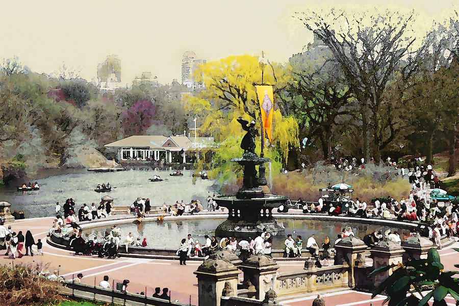 Bethesda Fountain Central Park Nyc Photograph  - Bethesda Fountain Central Park Nyc Fine Art Print