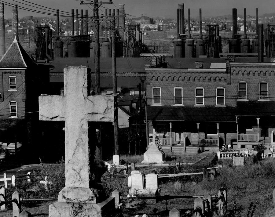 Bethlehem Graveyard And Steel Mill Photograph