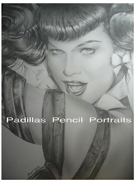 Bettie Page Drawing