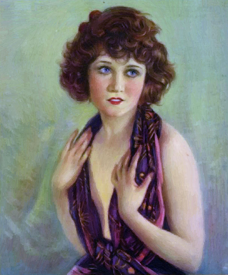 Betty Compson 1920 Painting  - Betty Compson 1920 Fine Art Print