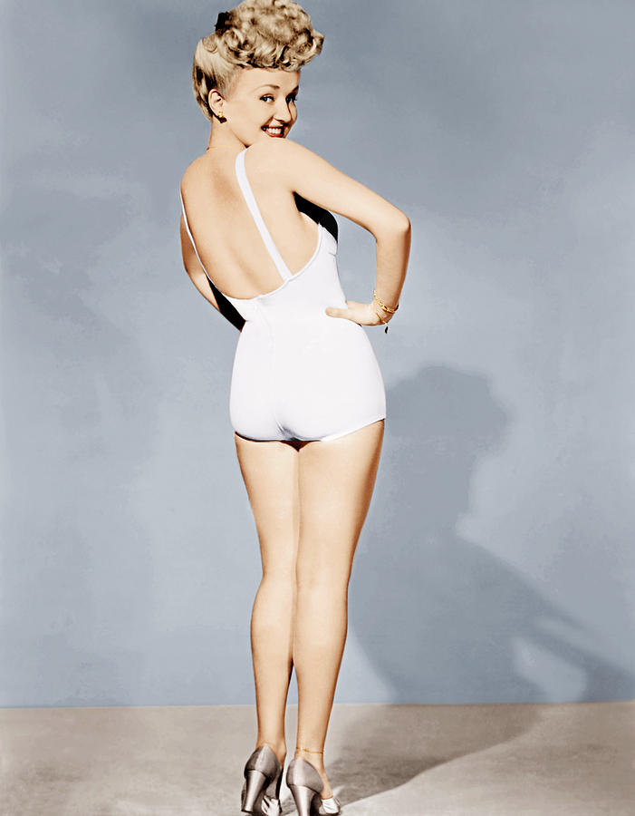 Betty Grable, World War II Pin-up, 1943 Photograph  - Betty Grable, World War II Pin-up, 1943 Fine Art Print