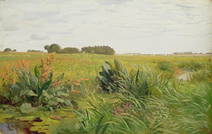Between Geest And Marsh Painting