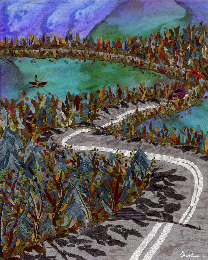 Between Lakes Tapestry - Textile