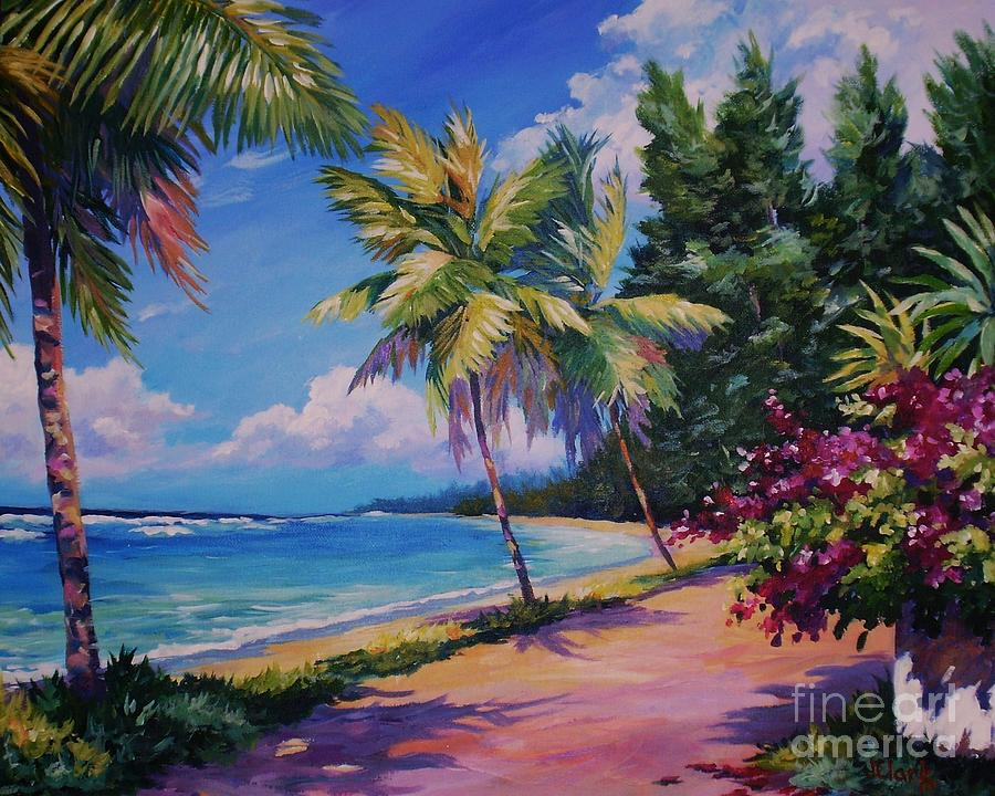 Between The Palms 20x16 Painting