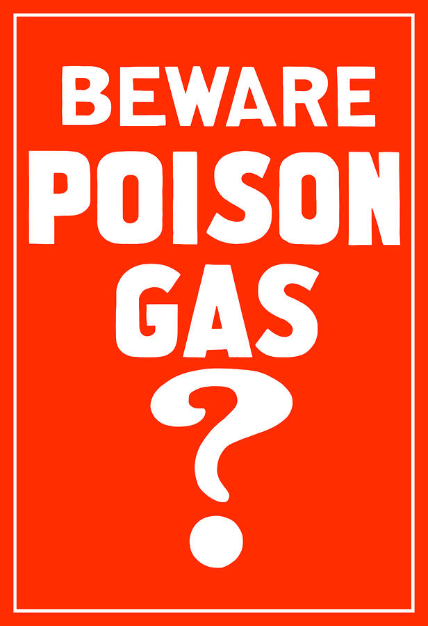 Beware Poison Gas Digital Art