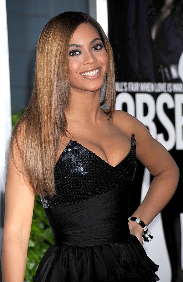Beyonce Knowles Wearing A Balmain Dress Photograph