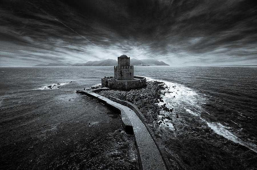 Nikon-d90 Photograph - Beyond The Sea There Is A Small Prison by Stavros Argyropoulos