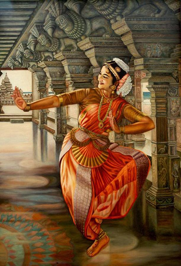 Bharatanatyam Painting