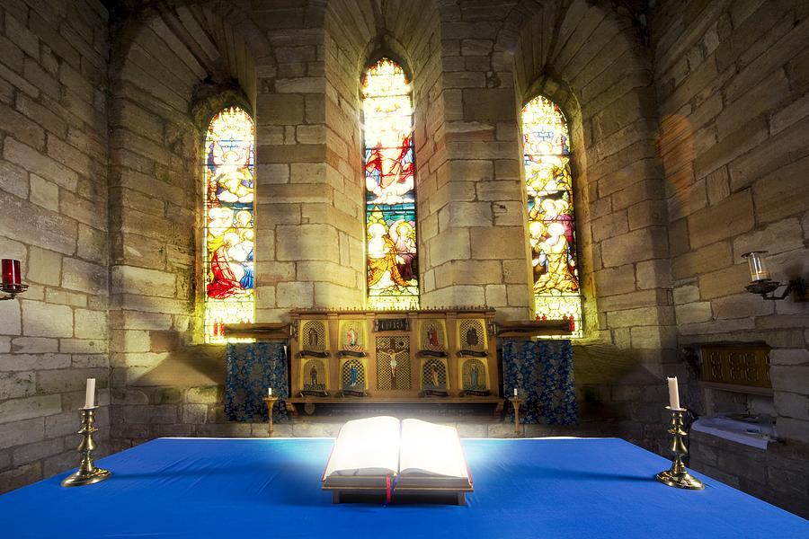 Bible In Church Photograph