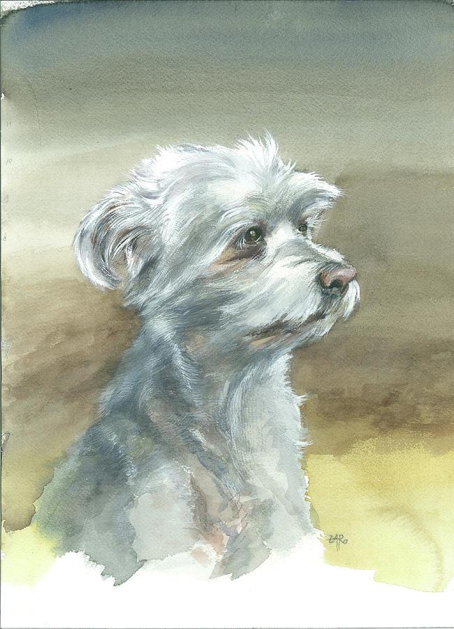 Bichon Painting
