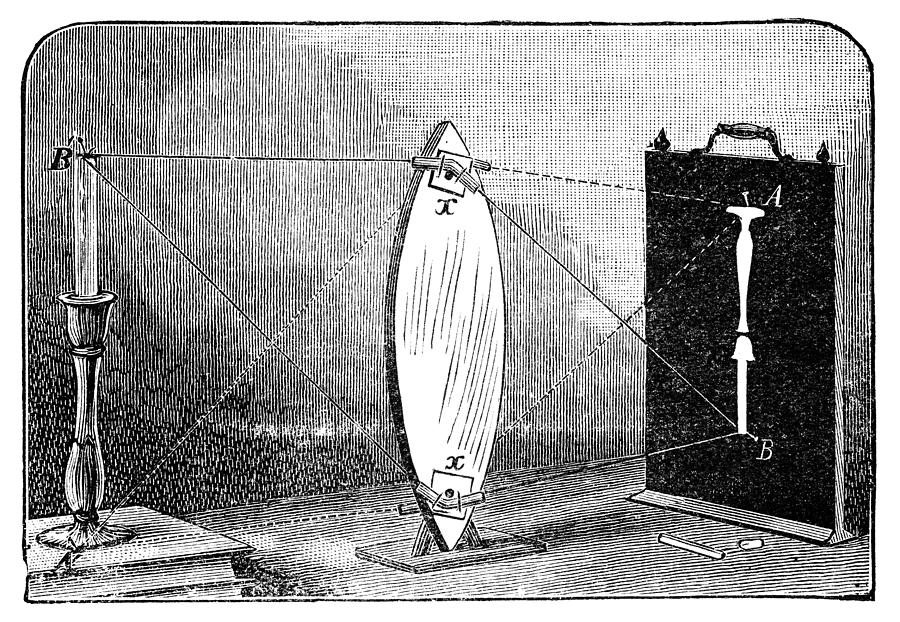 Biconvex Lens Model, 19th Century Photograph