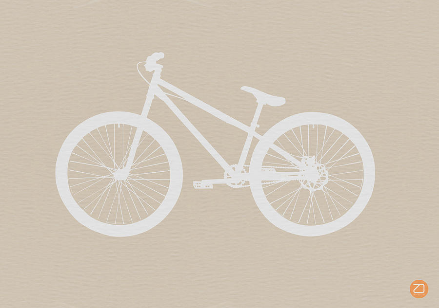 Drawing - Bicycle Brown Poster by Naxart Studio