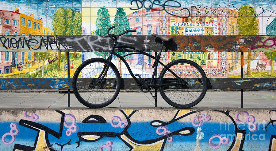 Bicycle Graffiti Photograph