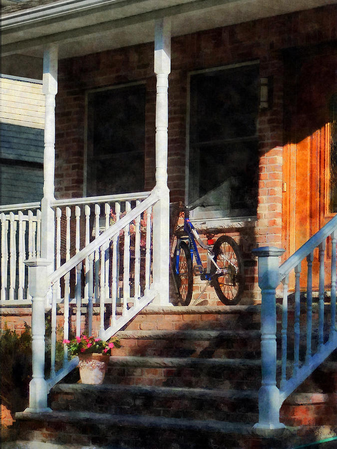 Bicycle On Porch Photograph  - Bicycle On Porch Fine Art Print