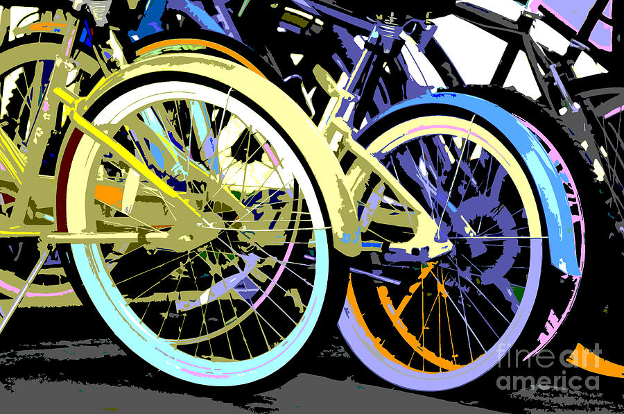 Bicycle Pastels Mixed Media  - Bicycle Pastels Fine Art Print