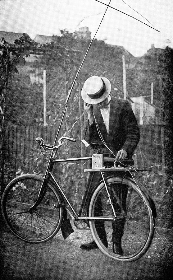 Bicycle Radio Antenna, 1914 Photograph  - Bicycle Radio Antenna, 1914 Fine Art Print