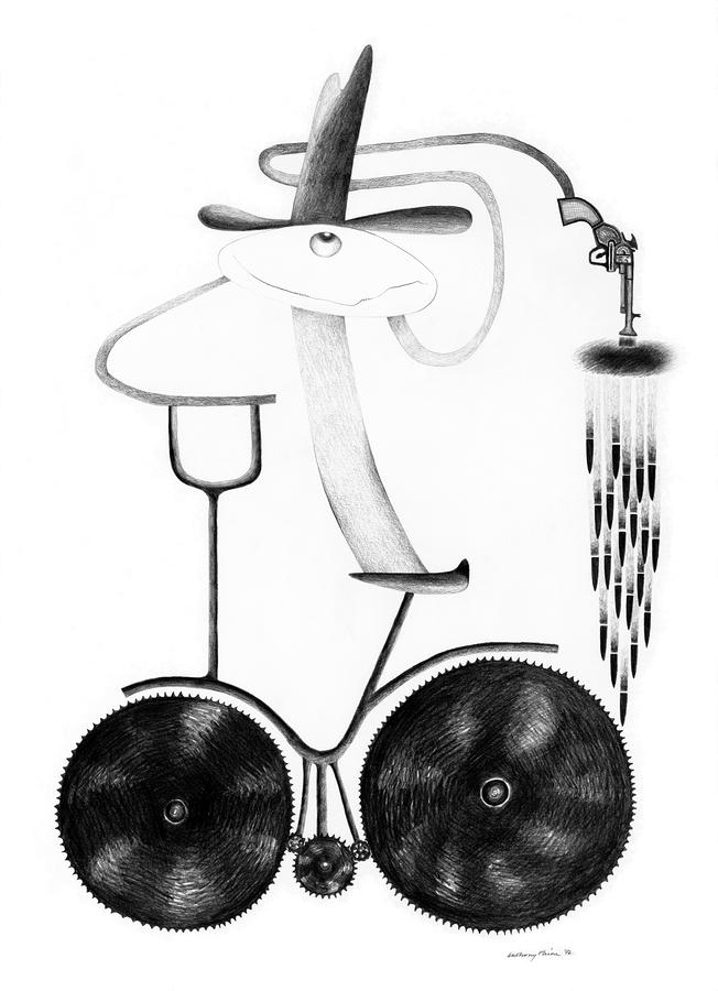 Bicyclops Drawing  - Bicyclops Fine Art Print