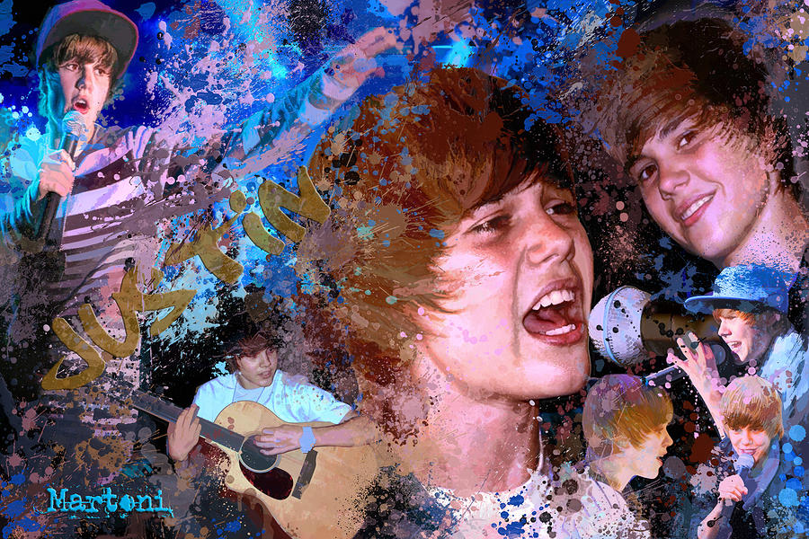 Bieber Fever Tribute To Justin Bieber Painting