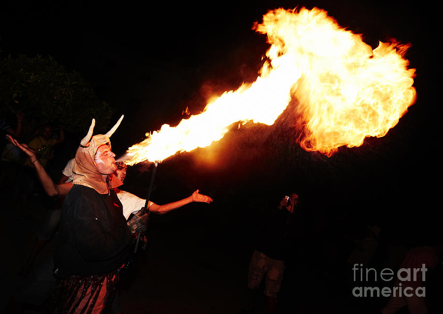 Big Axe Of Fire Photograph  - Big Axe Of Fire Fine Art Print