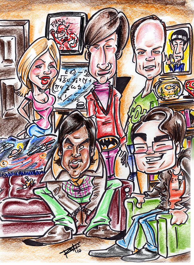 Big Bang Theory Drawing  - Big Bang Theory Fine Art Print