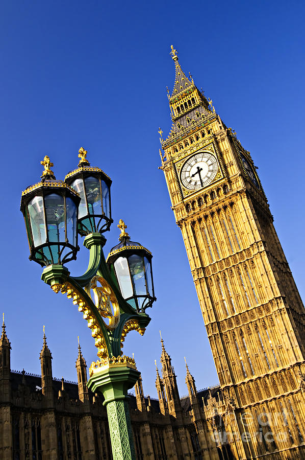 Big Ben And Palace Of Westminster Photograph