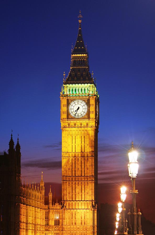 Big Ben At Night Photograph