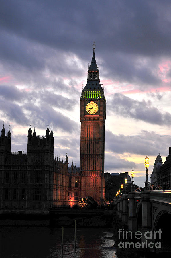 Big Ben Sunset Photograph  - Big Ben Sunset Fine Art Print