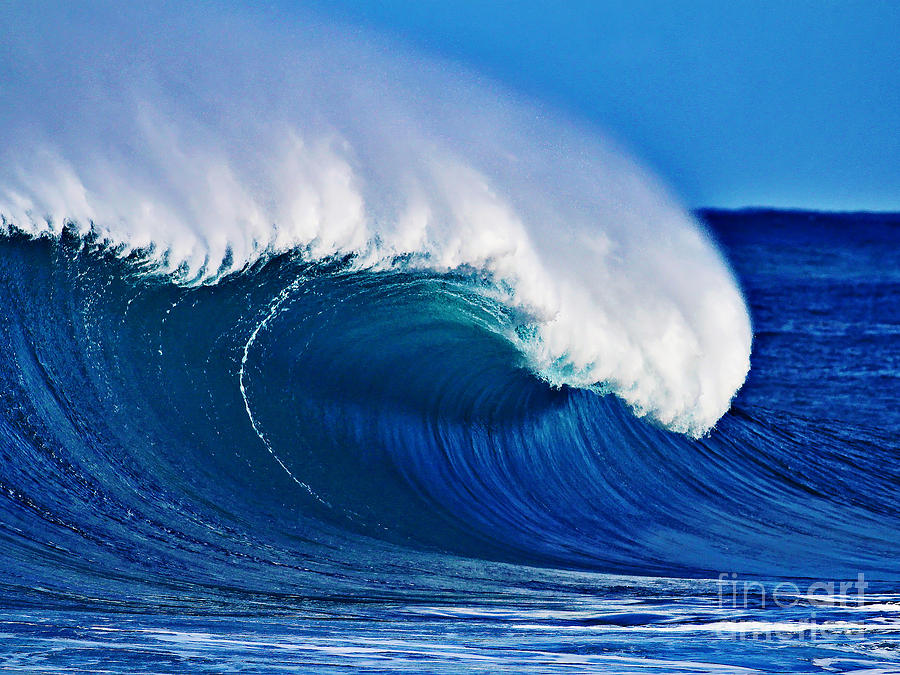 Big Blue Wave Photograph  - Big Blue Wave Fine Art Print