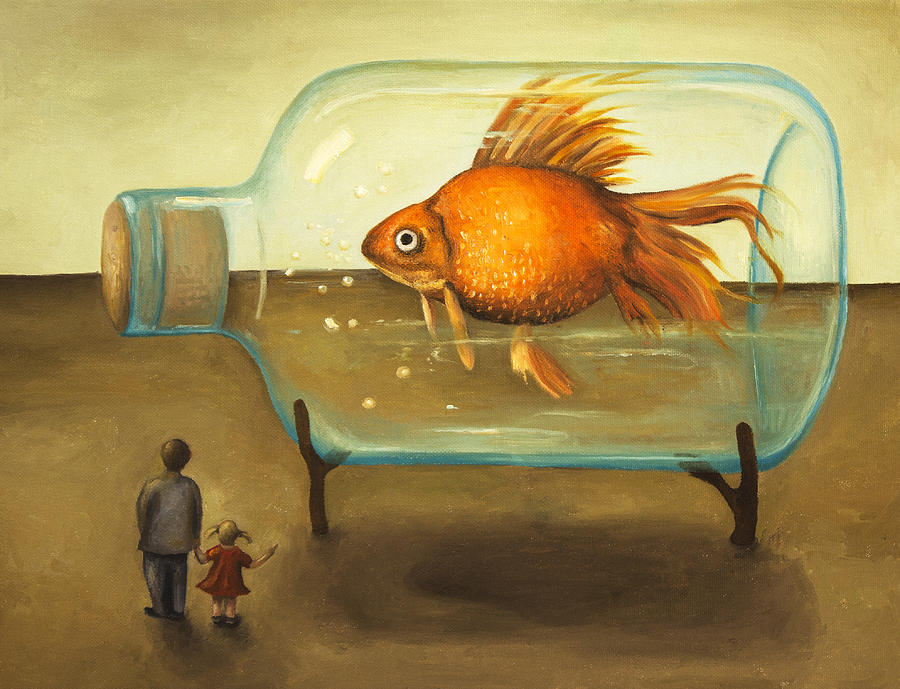 Big Fish Painting  - Big Fish Fine Art Print