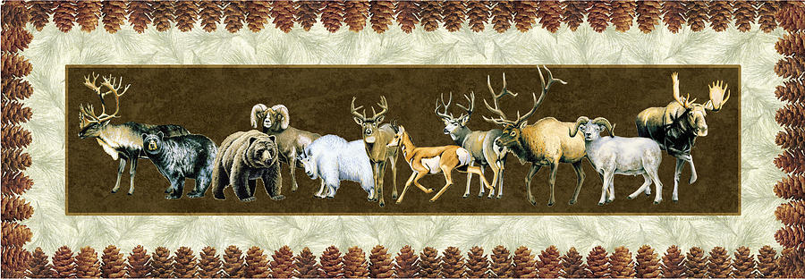 Wildlife Painting - Big Game Lodge by JQ Licensing