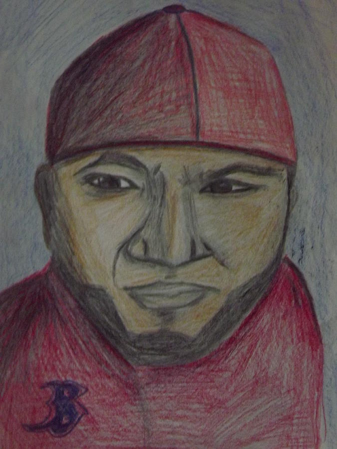 Big Papi Drawing  - Big Papi Fine Art Print
