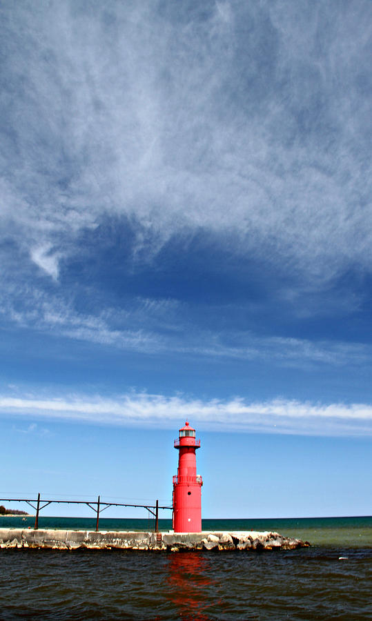 Big Sky Over Algoma Lighthouse Photograph  - Big Sky Over Algoma Lighthouse Fine Art Print