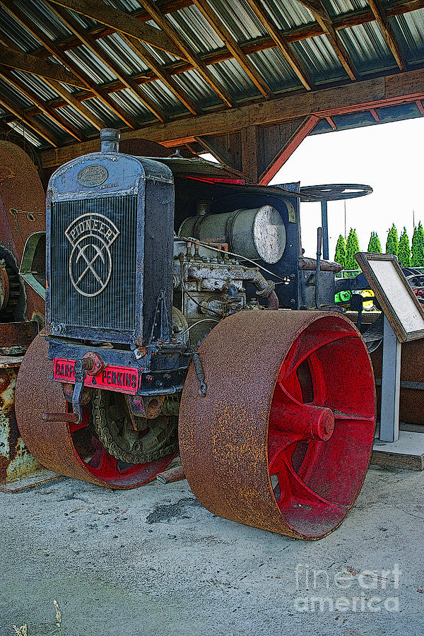 Large Tractor Wheels : Big steel wheel tractor photograph by randy harris