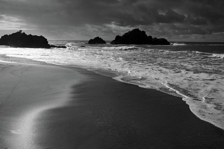 Big Sur Black And White Photograph