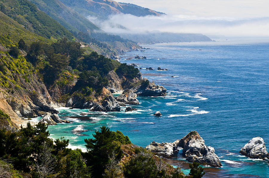 Big sur california coast by about light images