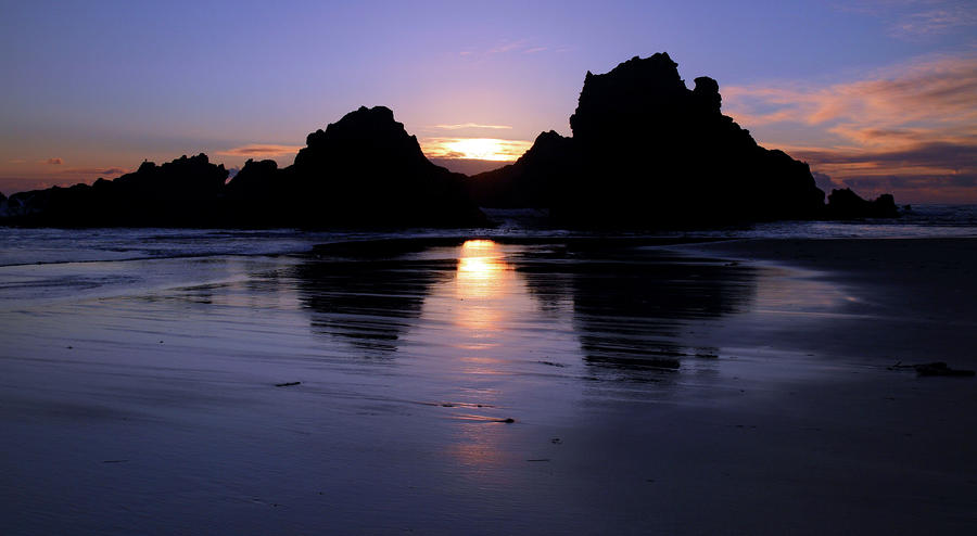Big Sur Sunset Photograph