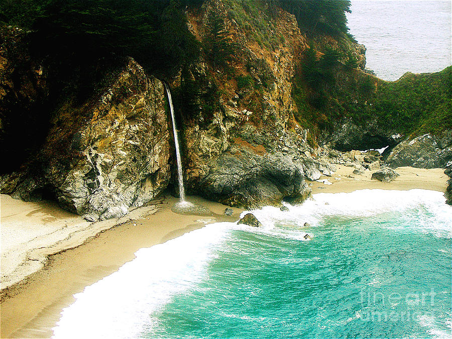 Big Sur Waterfall Photograph  - Big Sur Waterfall Fine Art Print