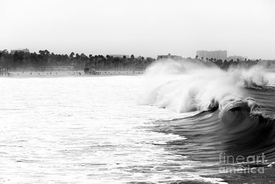 Big Surf At Santa Monica Photograph  - Big Surf At Santa Monica Fine Art Print