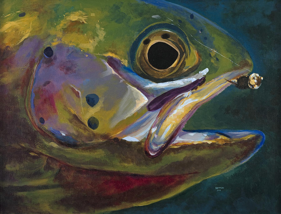 Big Trout Painting  - Big Trout Fine Art Print