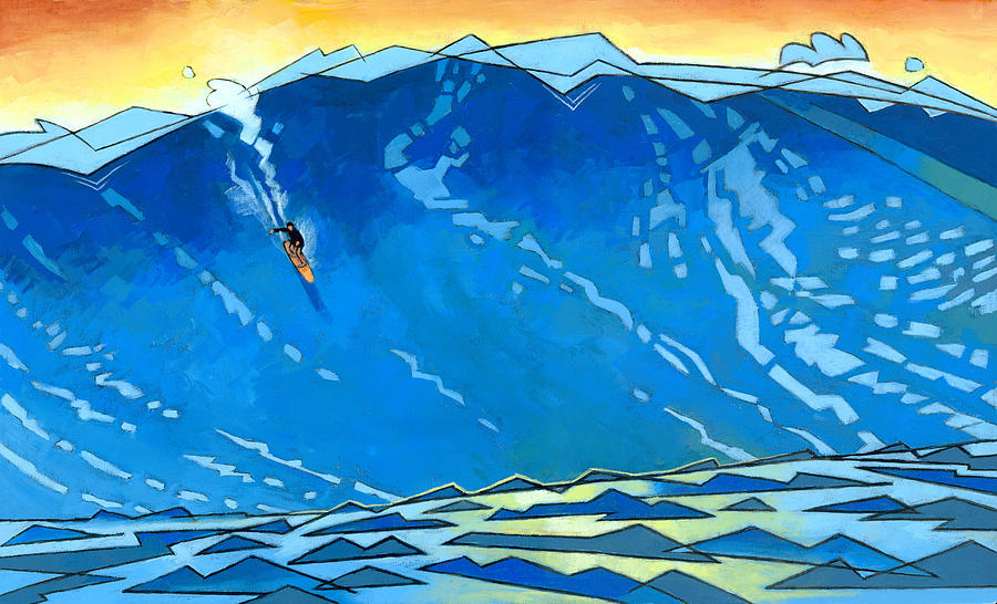 Big Wave Painting  - Big Wave Fine Art Print