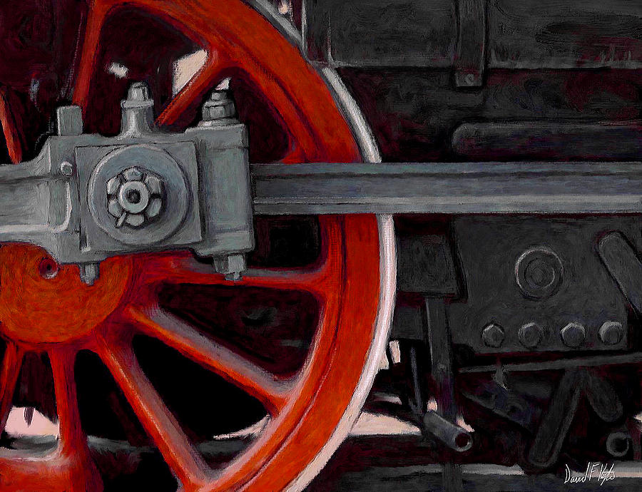 Big Wheel Painting  - Big Wheel Fine Art Print