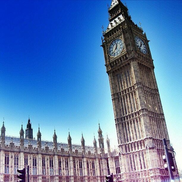 England Photograph - #bigben #uk #england #london2012 by Abdelrahman Alawwad