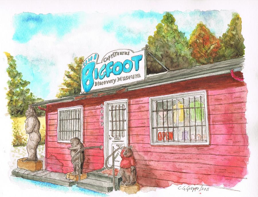 Bigfoot-discovery-museum Painting  - Bigfoot-discovery-museum Fine Art Print