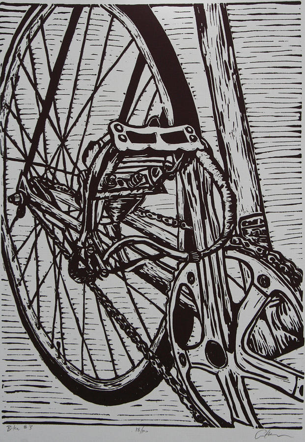 Bike 3 Drawing  - Bike 3 Fine Art Print