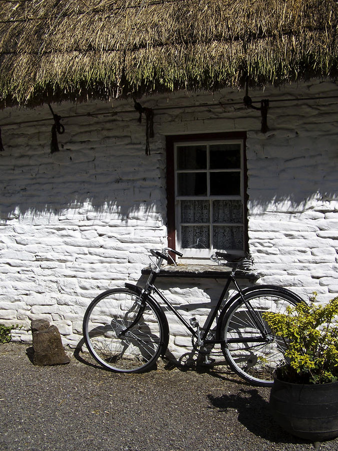 Bike At The Window County Clare Ireland Photograph